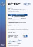 Certifikát QMS ISO9001:2008